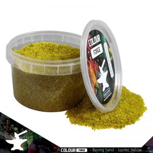 The Colour Forge   Sand & Flock Basing Sand - Jupiter Yellow (275ml) - TCF-BAS-011 - 5060843100843