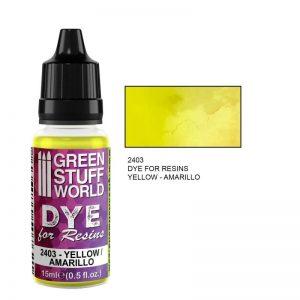 Green Stuff World   Resin Dye for Resins YELLOW - 8436574507621ES - 8436574507621