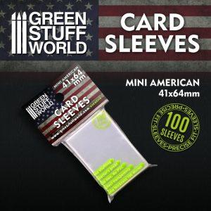 Green Stuff World   Green Stuff World Sleeves Card Sleeves - Mini American 41x64mm - 8436574508710ES - 8436574508710