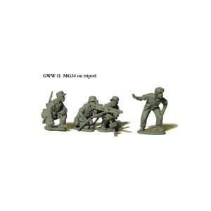 Perry Miniatures   Perry Miniatures MG34 on Tripod with 4 crew - GWW11 -