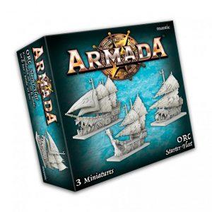 Mantic Kings of War Armada  Orcs Orc Starter Fleet - MGARO101 - 5060469666525