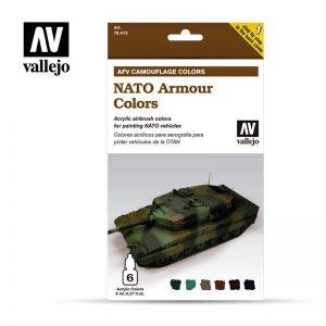Vallejo   Model Air AV Armour Set - Nato Camouflage (6 x 8ml) - VAL78413 - 8429551784139