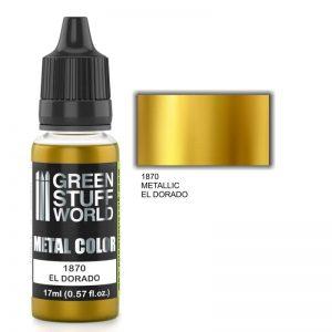 Green Stuff World   Acrylic Metallics Metallic Paint EL DORADO - 8436574502299ES - 8436574502299