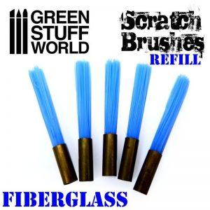 Green Stuff World   Rolling Pins Scratch Brush Set Refill – Fibre Glass - 8436574500127ES - 8436574500127