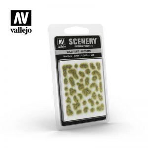Vallejo   Vallejo Scenics AV Vallejo Scenery - Wild Tuft - Autumn, Medium: 4mm - VALSC409 - 8429551986076