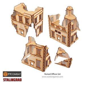 Warlord Games   World War Scenics Stalingrad Ruins - TT_Stalin06 -