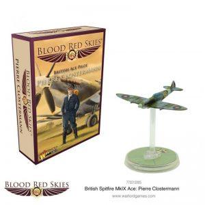 Warlord Games Blood Red Skies  Blood Red Skies Blood Red Skies: Spitfire Mk IX Ace - Pierre Clostermann - 772212005 - 5060572502574