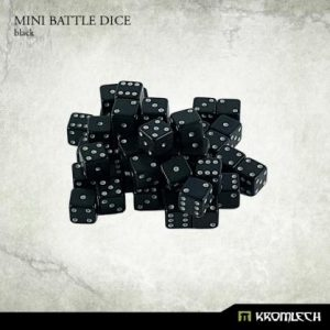 Kromlech   D6 Mini Battle Dice 50x Black 7mm - KRGA025 - 5902216113480