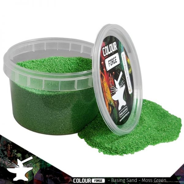 The Colour Forge   Sand & Flock Basing Sand - Moss Green (275ml) - TCF-BAS-010 - 5060843100836