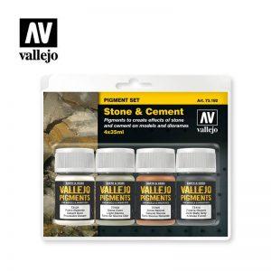 Vallejo   Pigments AV Vallejo Pigments Set - Stone & Cement - VAL73192 - 8429551731928