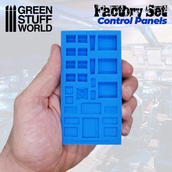 Green Stuff World   Mold Making Silicone Molds - Control Panels - 8436574504514ES - 8436574504514