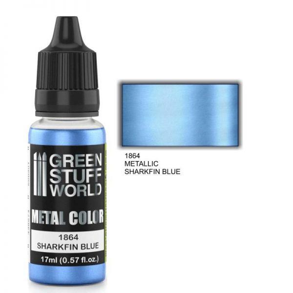 Green Stuff World   Acrylic Metallics Metallic Paint SHARKFIN BLUE - 8436574502237ES - 8436574502237