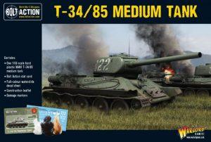 Warlord Games Bolt Action  Soviet Union (K47) Soviet T-34/85 Medium Tank (plastic) - 402014004 - 5060572500174