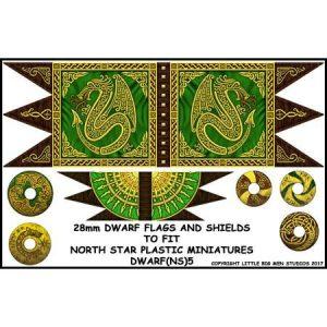North Star Oathmark  Oathmark Dwarf Flag and Shields - DWARF(NS)5 -