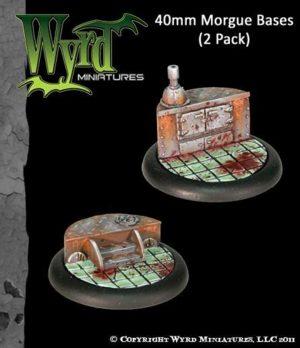 Wyrd   Morgue Bases Morgue 40mm bases (2 pack) - WYR0027 - 813856012413