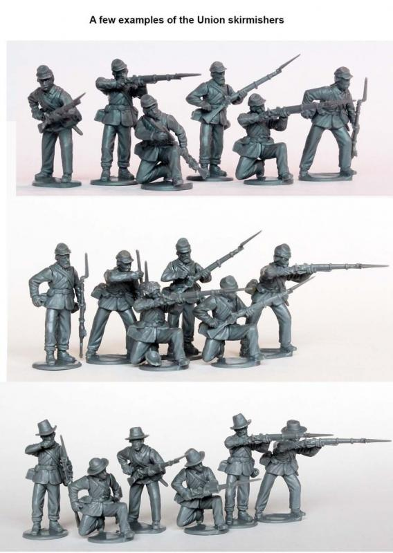 Perry Miniatures   Perry Miniatures American Civil War Union Infantry in sack coats skirmishing 1861-65 - ACW120 - ACW120