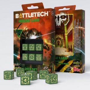 Q-Workshop   Q-Workshop Dice Battletech House Liao D6 Dice set (6) - SBLI81 - 5907699493128