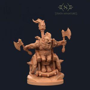 Strata Miniatures   SALE! Dungeons & Diversity: Dwarf Barbarian - SM-KC-0070 - 745125526249