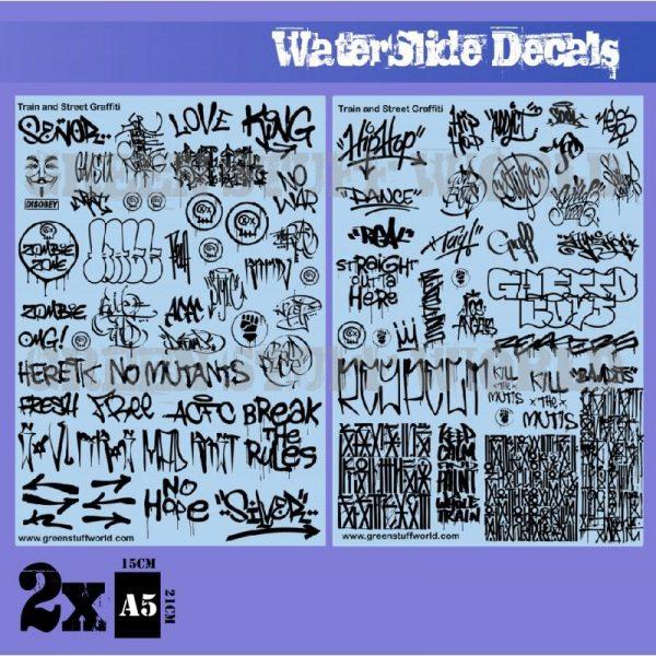 Green Stuff World   Decals Waterslide Decals - Train and Graffiti Mix - Black - 8436574503685ES - 8436574503685