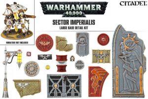 Games Workshop   Games Workshop Bases Sector Imperialis Large Base Detail Kit - 99120199042 - 5011921073184