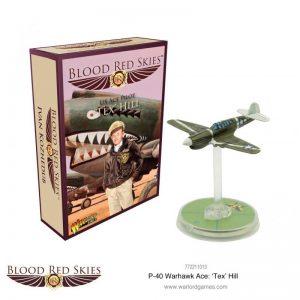 Warlord Games Blood Red Skies  Blood Red Skies Blood Red Skies: P-40 Warhawk Ace Tex Hill - 772211013 - 5060572503403
