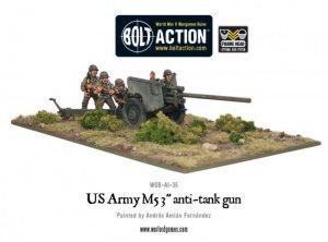 Warlord Games Bolt Action  United States of America (BA) US Army M5 3'' Anti-Tank Gun - WGB-AI-36 - 5060200845035