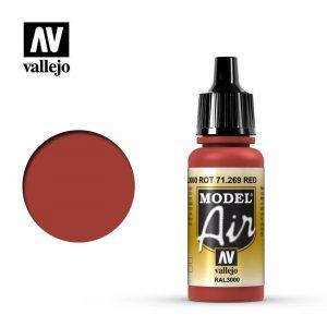 Vallejo   Model Air Model Air: Red (RAL3000) - VAL71269 - 8429551712699