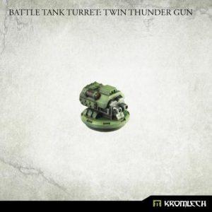 Kromlech   Imperial Guard Conversion Parts Battle Tank Turret: Twin Thunder Gun (1) - KRVB084 - 5902216119741