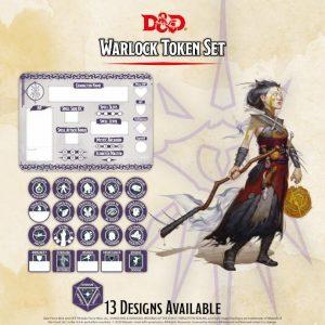 Gale Force Nine Dungeons & Dragons  D&D Extras D&D: Warlock Token Set (Player Board & 22 tokens) - GFN72502 - 9420020251083