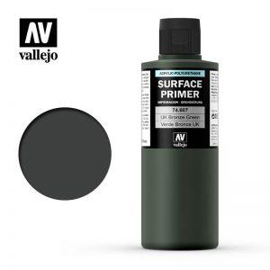 Vallejo   Model Air Primers AV Polyurethane - Primer UK Bronze Green 200ml - VAL74607 - 8429551746076