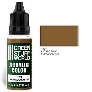 Green Stuff World   Acrylic Paints Acrylic Color KOMODO KHAKI - 8436574501834ES - 8436574501834