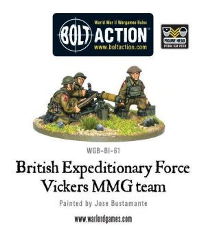 Warlord Games Bolt Action  Great Britain (BA) BEF Vickers MMG Team - WGB-BI-61 - 5060200845011