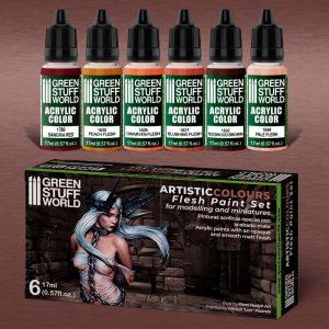 Green Stuff World   Acrylic Paints Paint Set - Flesh - 8436574506167ES - 8436574506167