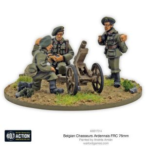 Warlord Games Bolt Action  Belgian Army (BA) Belgian Chasseurs Ardennais  FRC 76mm infantry gun - 403017314 -