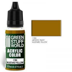Green Stuff World   Acrylic Paints Acrylic Color MUSTARD YELLOW - 8436574501421ES - 8436574501421