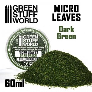 Green Stuff World   Lichen & Foliage Micro Leaves - Dark Green Mix - 8435646501062ES - 8435646501062