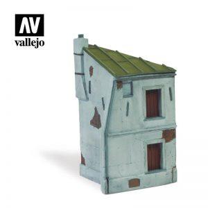 Vallejo   Vallejo Scenics Vallejo Scenics - Scenery: French House Corner - VALSC117 - 8429551987073