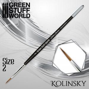 Green Stuff World   Kolinsky Sable Brushes SILVER SERIES Kolinsky Brush - Size 2 - 8436574507140ES - 8436574507140