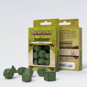 Q-Workshop   Q-Workshop Dice Pathfinder Jade Regent Dice Set (7) - SPAT44 - 9781601255396