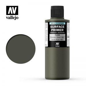 Vallejo   Model Air Primers AV Polyurethane - Primer Russian Green 200ml - VAL74609 - 8429551746090