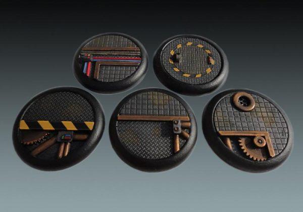 Baker Bases   Sci-fi Bases Sci-Fi: 40mm Wround Bases (5) - CB-SF-03-40M - CB-SF-03-40M
