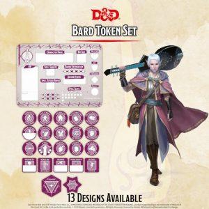 Gale Force Nine Dungeons & Dragons  D&D Extras D&D: Bard Token Set (Player Board & 22 tokens) - GFN72504 - 9420020251106