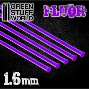 Green Stuff World   Acrylic Rods Acrylic Rods - Round 1.6 mm Fluor PURPLE - 8435646500799ES - 8435646500799