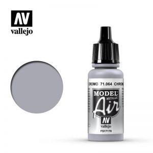 Vallejo   Model Air Model Air: Chrome Metallic - VAL064 - 8429551710640