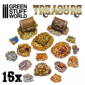Green Stuff World   Green Stuff World Terrain 16x Resin Treasure Pieces - 8436574506648ES - 8436574506648