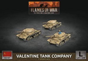 Battlefront Flames of War  SALE! Soviet Valentine Tank Company - SBX69 - 9420020251410
