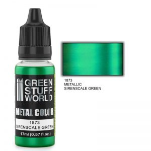 Green Stuff World   Acrylic Metallics Metallic Paint SIRENSCALE GREEN - 8436574502329ES - 8436574502329