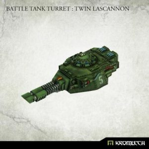 Kromlech   Imperial Guard Conversion Parts Battle Tank Turret: Twin Lascannon (1) - KRVB091 - 5902216119819