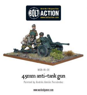 Warlord Games Bolt Action  Soviet Union (BA) Soviet 45mm Anti Tank Gun - WGB-RI-28 -