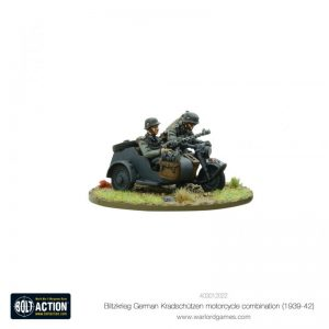 Warlord Games Bolt Action  Germany (BA) Blitzkrieg GermanKradschutzen Motorcycle Combination (1939-1942) - 403012022 - 5060572501805